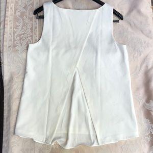 Ann Taylor Tops - Ann Taylor Sleeveless Cream Polyester Knit Top
